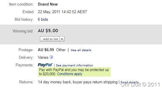 cubaan eBay australia oh duit
