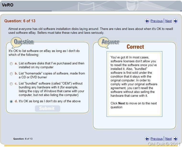 oh duit jawapan soalan VeRO ebay 6