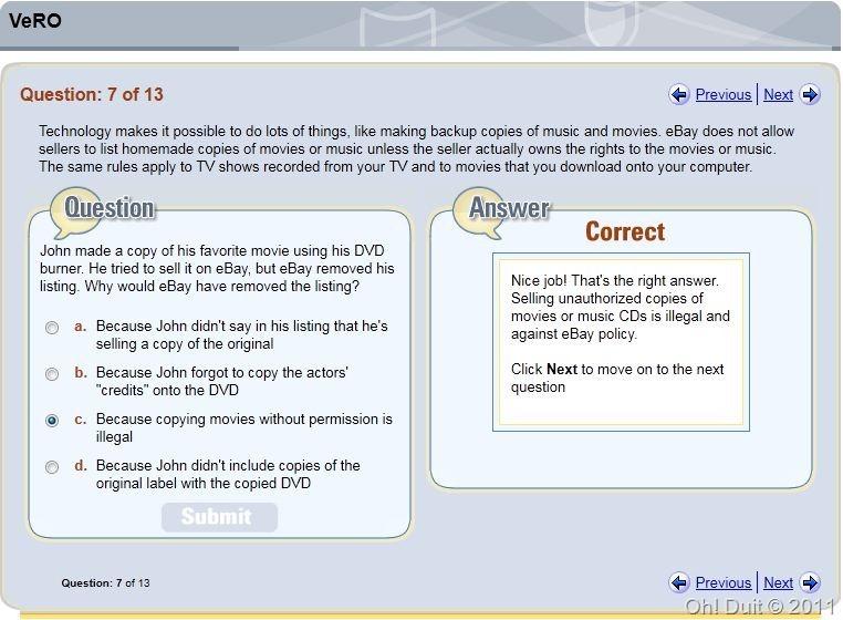 oh duit jawapan soalan VeRO ebay 7